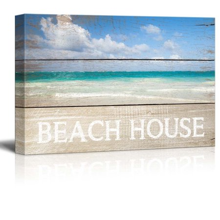 Beach Themed Wall Decor (wall26 Marine Theme Canvas Wall Art - Beautiful Beach - Giclee Print Modern Wall Decor | Stretched Gallery Wrap Ready to Hang Home Decoration - 32x48)