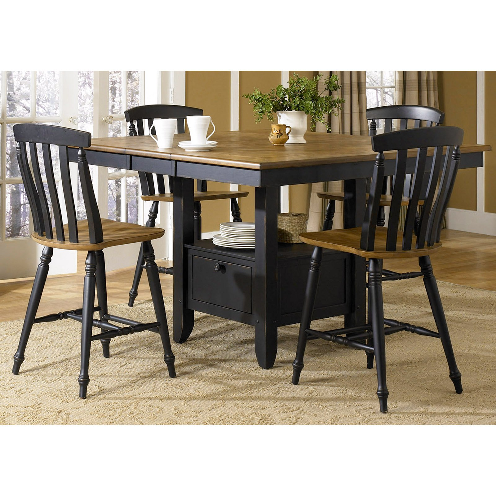 Liberty Furniture Aurora 5-piece Counter-Height Gathering Table Set