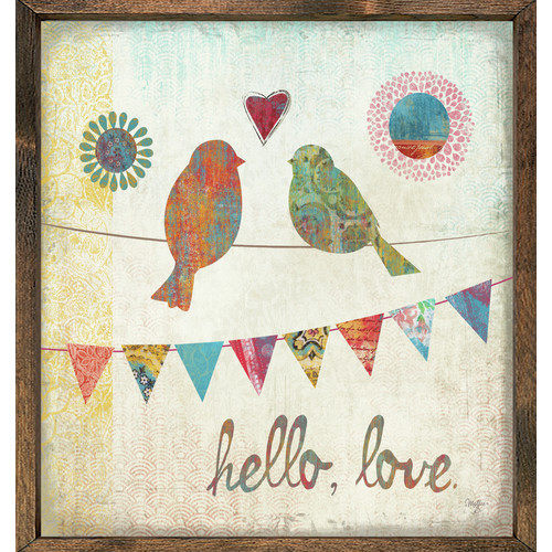 Forest Creations Magnet Print Hello, Love Framed Graphic Art
