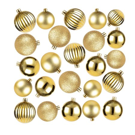 Juvale 48-Pack Mini Christmas Tree Ornaments - Royal Blue Shatterproof Small Christmas Balls Decoration, Assorted 3-Finish Shiny, Matte, Glitter, Hanging Plastic Bauble Holiday Decor, 1.5 Inches