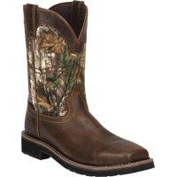 Justin Men's Stampede EH Waterproof Composite Toe Work Boots, Camo, 12