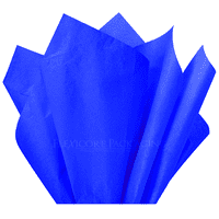 "Royal Blue Tissue Paper, 15""x20"", 100 ct"