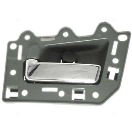 Drivers Rear Inside Inner Gray with Chrome Door Handle Repair Kit Replacement for Jeep SUV 5HR371D5AL