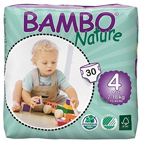 Bambo Nature Premium Baby Diapers Size 4 30 Count