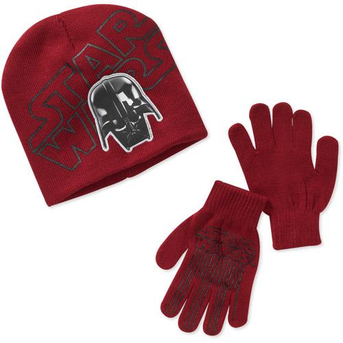 Star Wars Boys' Darth Vader Hat and Gloves Set