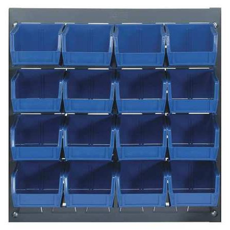 Louvered Storage Bins (QUANTUM STORAGE SYSTEMS QLP-1819-220-16BL Louvered Bench Rack, 18 x 8 x 19 In,)