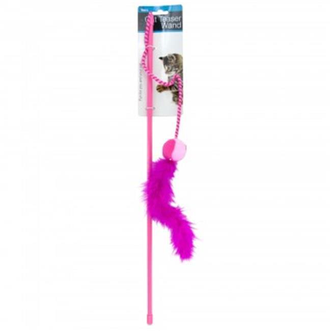 Bulk Buys HX183-36 Feather Wand Cat Toy - 36 Piece