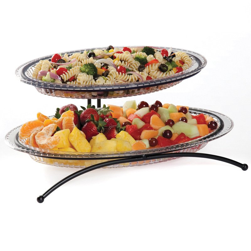 Creative Bath 2 Tier Buffet Server with 2 Platters