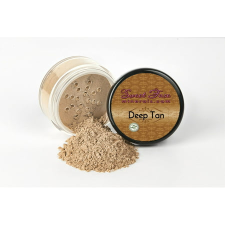 DARK TAN FOUNDATION by Sweet Face Minerals Sample to Bulk Sizes Mineral Makeup Bare Skin Sheer Powder Cover (5 Gram Sample Jar)
