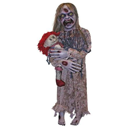 Zombie Girl Halloween Prop - Long Halloween Zombie Girl