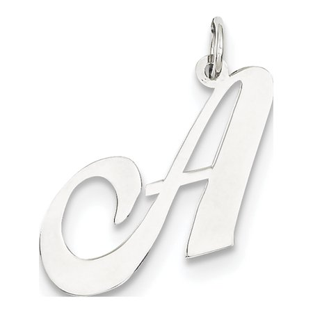 Gold Large Initial Pendant (Leslies Fine Jewelry Designer 14k White Gold Large Fancy Script Initial A (25x22mm) Pendant)