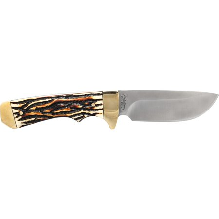 Uncle Henry Elk Hunter Full Tang Drop Point Fixed Blade ()
