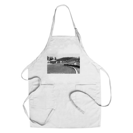 Depoe Bay, Oregon - Southern View of the Sea Wall (Cotton/Polyester Chef's Apron)
