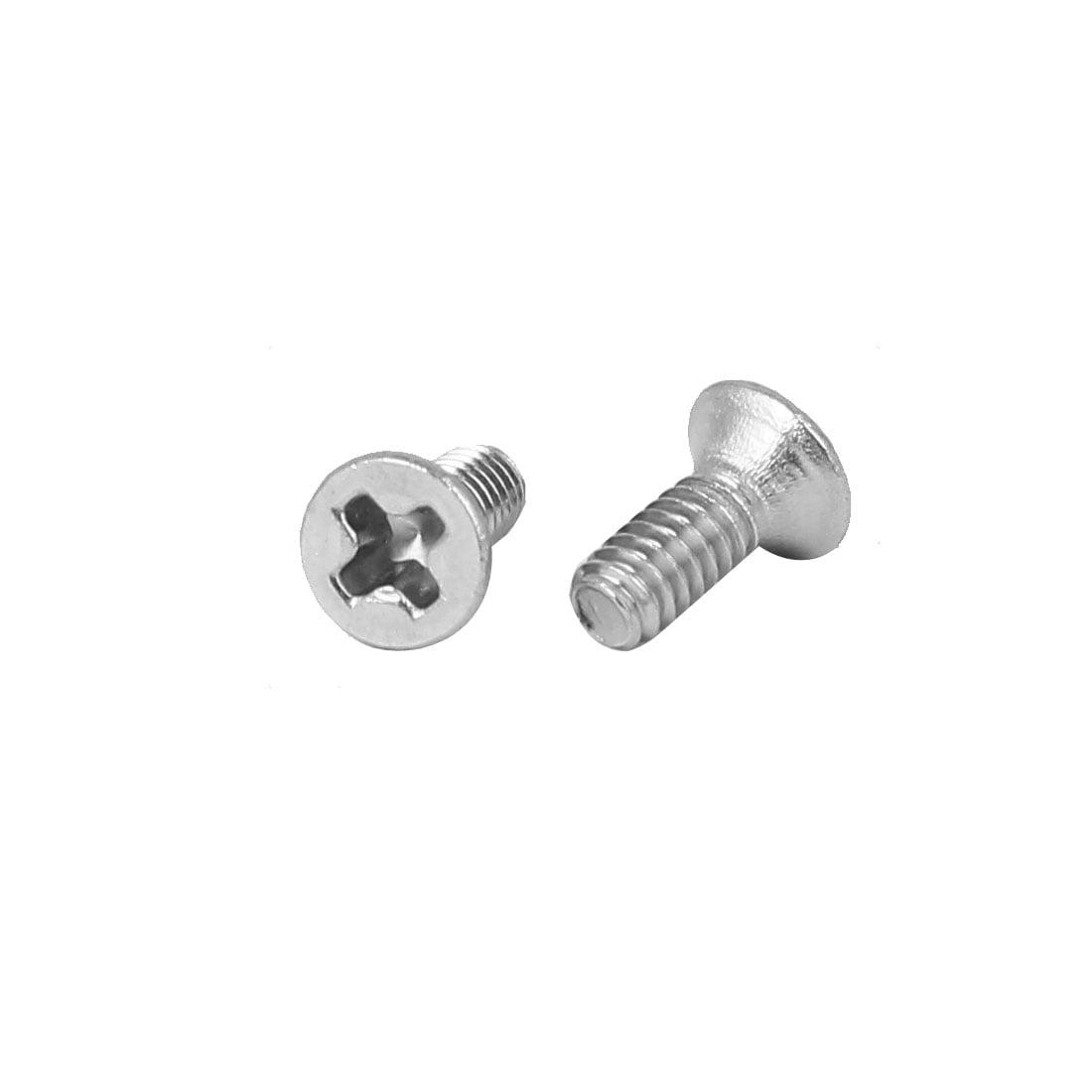 80 Pcs M2x5mm 316 Stainless Steel Flat Head Phillips Machine Screws Fasteners - image 1 of 2