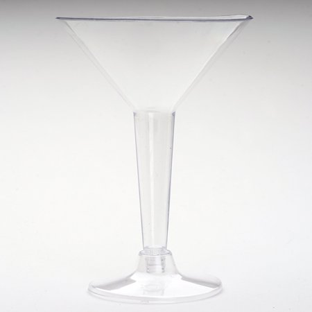 BalsaCircle Clear 12 pcs 5 oz. Clear Plastic Martini Glasses - Wedding Reception Party Buffet Catering Tableware - 2 Oz Martini Glasses