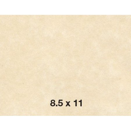 8.5 X 11 Stationery Parchment Recycled Paper 65lb. Cover Card stock - 50 per Pack -