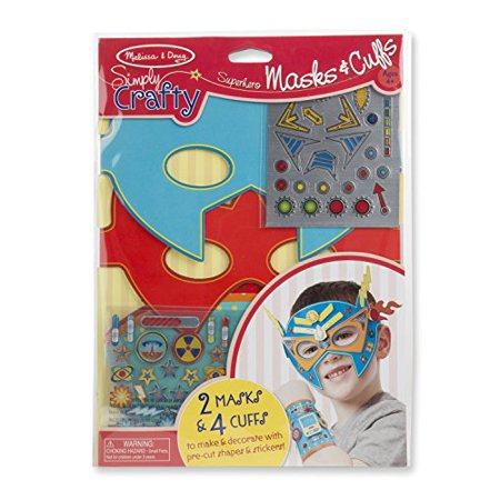 Melissa & Doug Simply Crafty Superhero Masks And Cuffs Kit With Stickers, Shapes, Foam Sticky Tabs - image 5 de 5