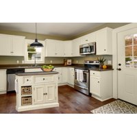 Hillsdale Furniture Tuscan Retreat Medium Granite Top Kitchen Island with Two Baskets, Multiple Finishes