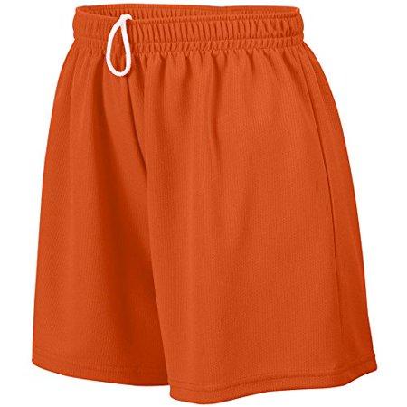 Augusta Sportswear WOMEN'S WICKING MESH SHORT XL Orange (Columbia Sportswear Plush)