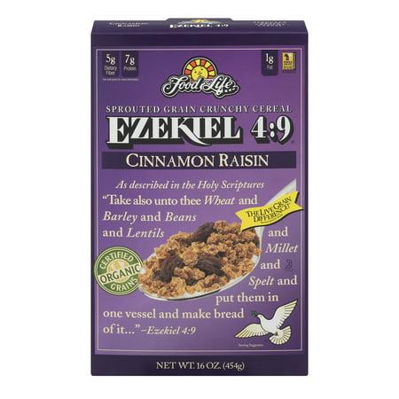 Food For Life Ezekiel 4:9 Sprouted Grain Crunchy Cereal Cinnamon Raisin, 16.0