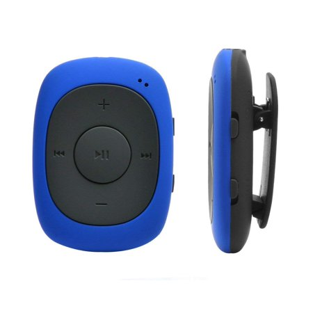 AGPTEK 8GB MP3 Player with FM radio, Portable clip Music Player with Sweatproof Silicone Case for Sports, Blue G02](Halloween Movie Music Mp3)