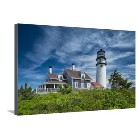 Spring at Cape Cod Light Stretched Canvas Print Wall Art By Michael Blanchette (Cape Cod Canvas)
