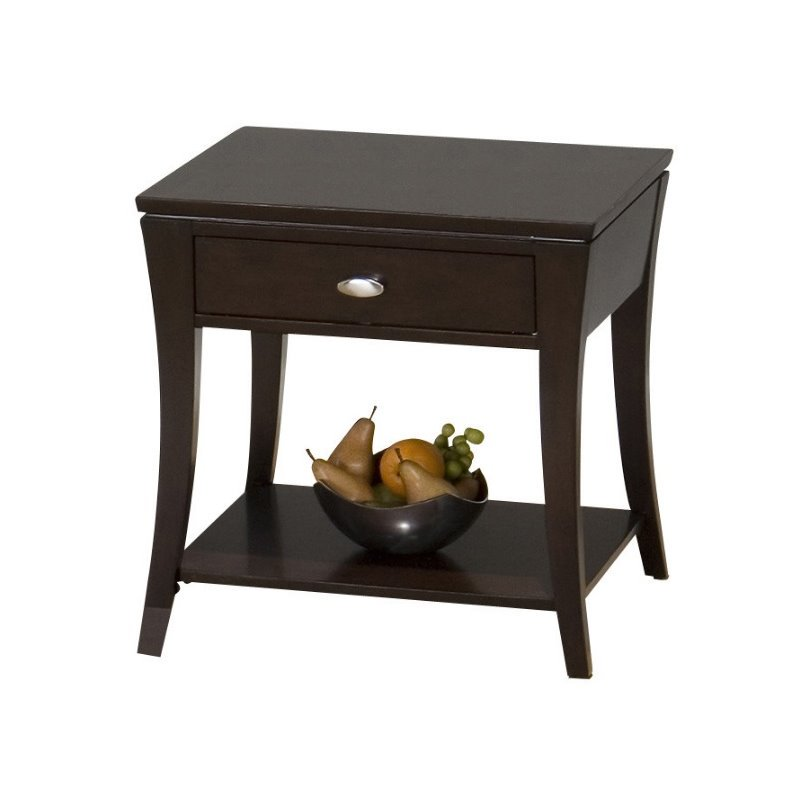 Jofran 629 Series End Table in Manhattan Espresso by Jofran