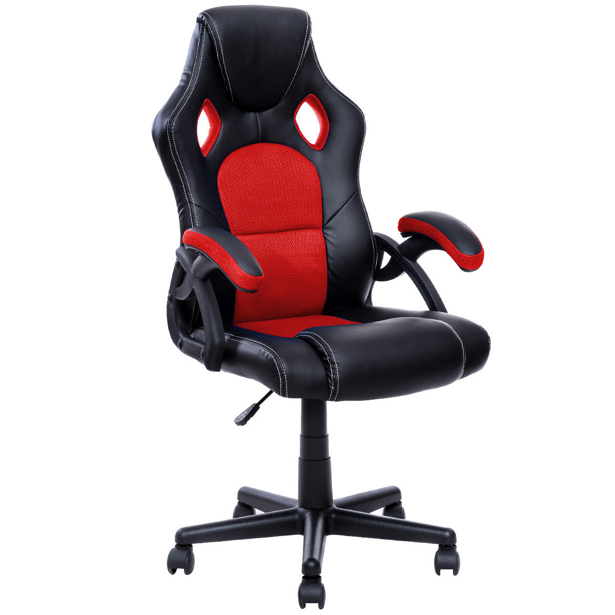 office bucket chair. costway pu leather executive bucket seat racing style office chair computer desk task c