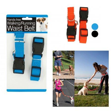 Hands Free Pet Dog Lead Walking Running Jogging Waist Belt Leash Adjustable !!