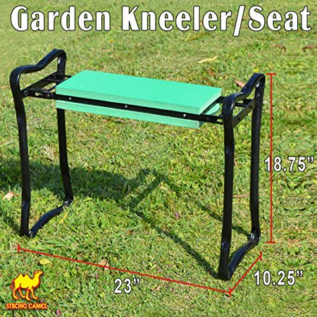 Strong Camel Foldable Garden Kneeler and Seat Portable Stool with EVA Kneeling Pad ()