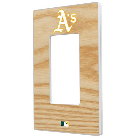 Oakland Athletics Baseball Bat Design Single Rocker Light Switch Plate - No Size Oakland Athletics Design