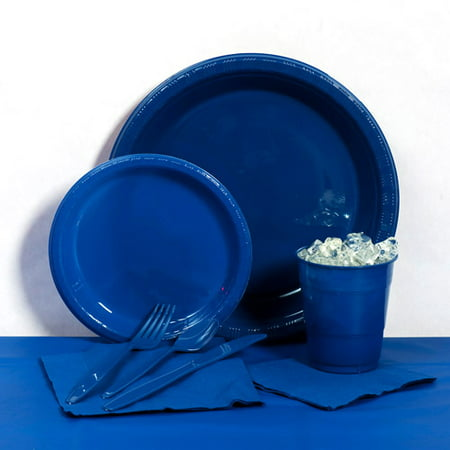 Navy Plastic Tableware Party Pack for 20