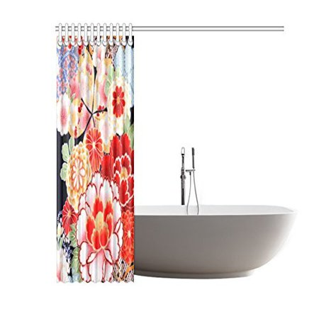 BSDHOME Kimono Pattern Bathroom Waterproof Fabric Shower Curtain 60x72 inches - image 1 de 2
