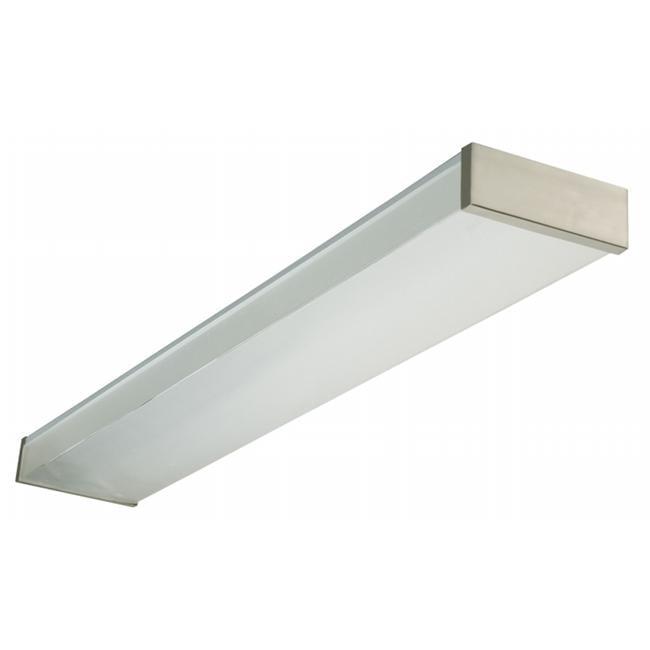 Lithonia Lighting 4ft.  32 Watt 2 Bulb Brushed Nickel Wraparound Fluorescent Light