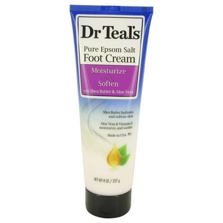 Dr Teal's Pure Epsom Salt Foot Cream with Shea Butter & Aloe Vera & Vitamin E 8 oz