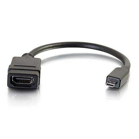 C2g Hdmi Micro Male To Hdmi Female Adapter Converter Dongle - Hdmi\/micro Hdmi For Audio\/video Device - 1 X Hdmi (micro Type D) Male Digital Audio\/video - 1 X Hdmi Female Digital Audio\/video (41357)