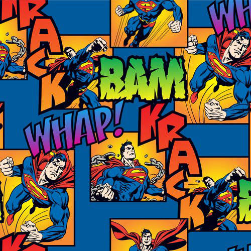 "DC Comics Cotton Flannel 42"" Batman Directional Fabric, per Yard"