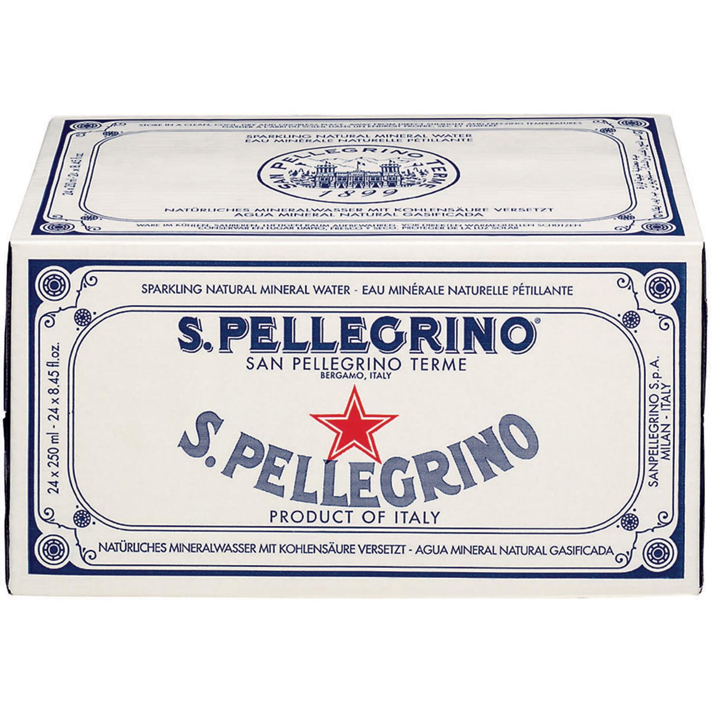 S. Pellegrino Sparkling Natural Mineral Water 4x6-250mL Glass Bottles