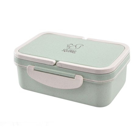Double Rectangle Cover Lunchbox Microwave Oven Student Adult High Capacity Compartment Bento Box