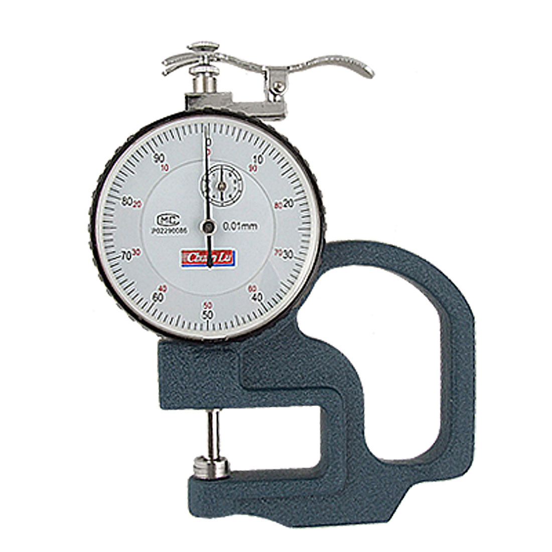 Unique Bargains Round Dial 0-10mm Tri Color Handheld Thickness Gauge by Unique-Bargains