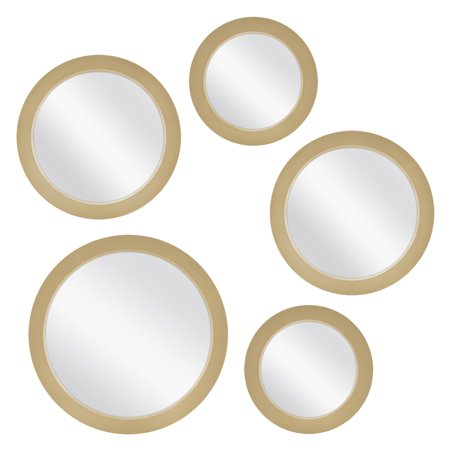 Mainstays 5-Piece Mirror Set, Available in Multiple (Round Mirror Australia)
