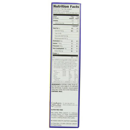Act Ii Nutrition Label
