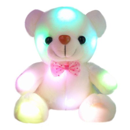 LED bear dolls Toy children's flashing lights will glow doll Gift](Cool Glow Stuff)