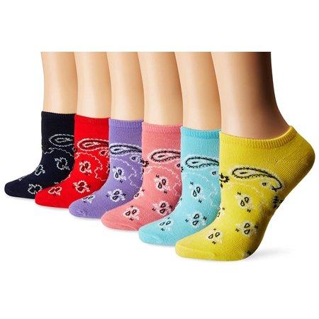 K. Bell Bandanas Socks, Turquoise, Sock Size 9-11/Shoe Size 4-10, 6 Pair - Hobby Lobby Bandanas