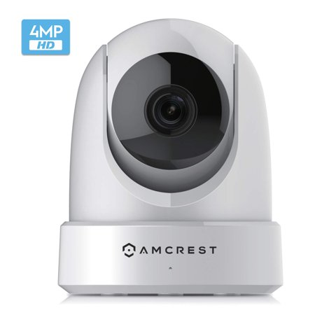 Amcrest 4MP UltraHD Indoor WiFi Camera, Security IP Camera with Pan/Tilt, Two-Way Audio, Night Vision, Remote Viewing, Dual-Band 5ghz/2.4ghz, 4-Megapixel @~20FPS, Wide 120° FOV. IP4M-1051W