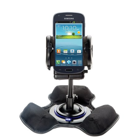 Car / Truck Vehicle Holder Mounting System for Samsung Galaxy Amp Includes Unique Flexible Windshield Suction and Universal Dashboard Mount Options