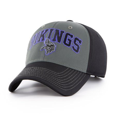 NFL Minnesota Vikings Blackball Script Adjustable Cap/Hat by Fan Favorite - Vikings Hat With Horns