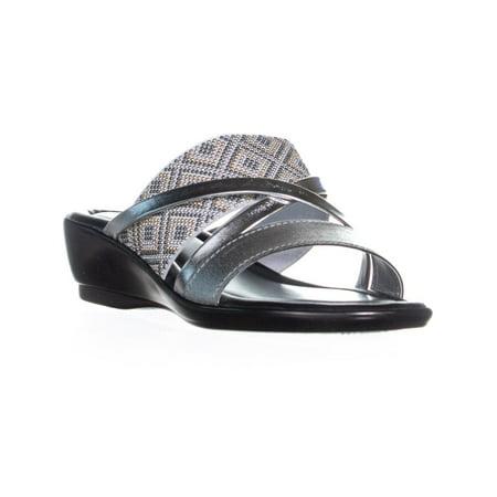 Easy Street Palazzo Slip On Strappy Sandals, Silver - image 6 de 6