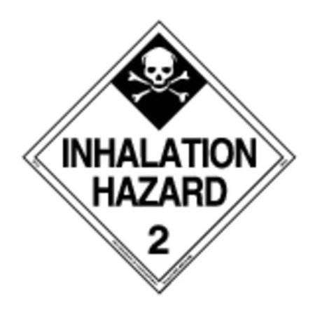 LABELMASTER 35ZL65 Inhalation Hazard Placard,10-3/4inH G2277305