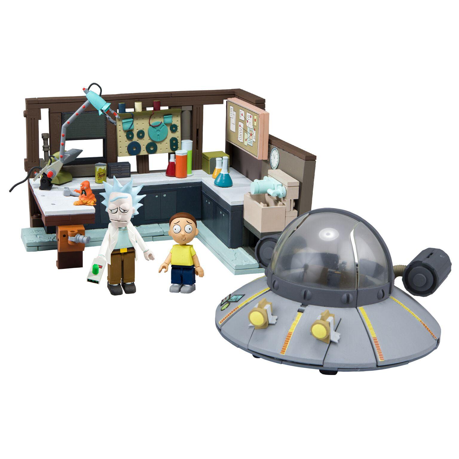 Mcfarlane Toys Rick /& Morty Garage /& Spaceship Construction Sets